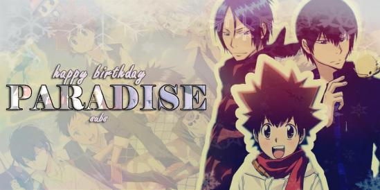 Happy birthday paradise subs